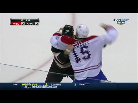 George Parros vs Tim Jackman