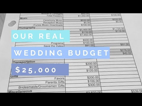 Budgeting for a Wedding   Our REAL NUMBERS Wedding Budget  