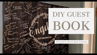 How To Make A Wooden Guest Book Sign || Alternative Guest Book