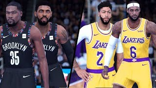Brooklyn Nets (KD!) vs. Los Angeles Lakers - 2020 NBA Finals! - Full Gameplay (Updated Rosters)