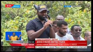 Governor Joho makes a scathing attack against President Uhuru after recording statement with CID