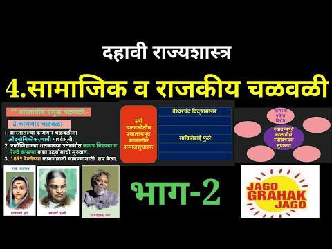 सामाजिक व राजकीय चळवळी दहावी राज्यशास्त्र भाग-2/samajik v rajkiya chalvali 10th rajyashastra part-2