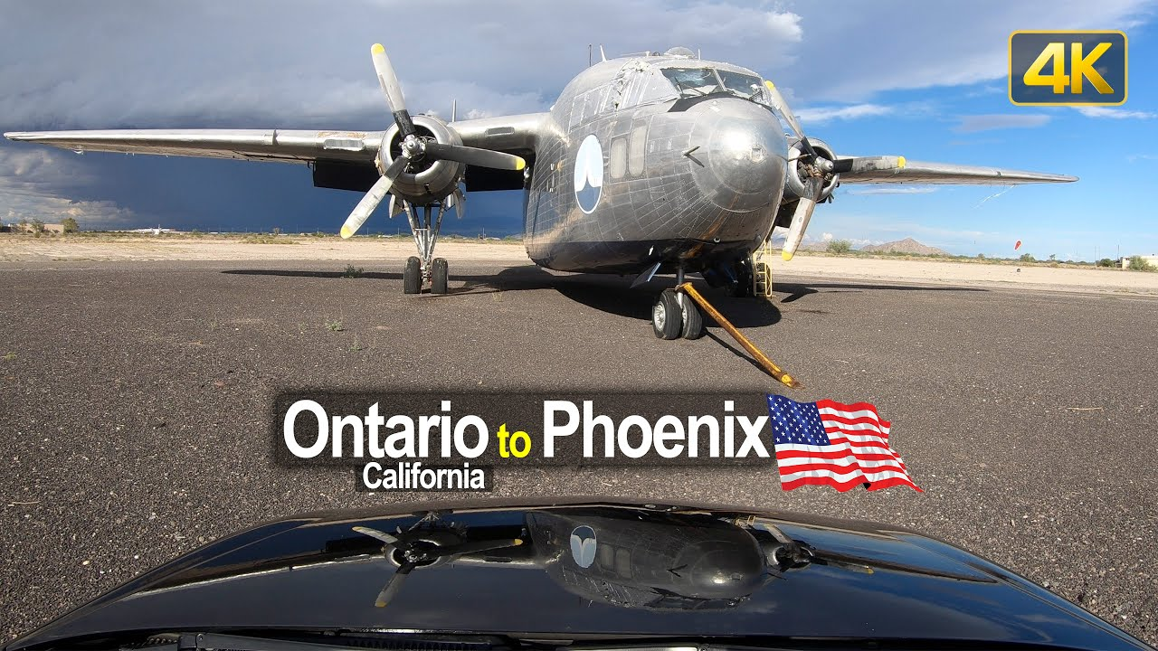 USA Road Trip – Ontario CA to Phoenix AZ in 4K