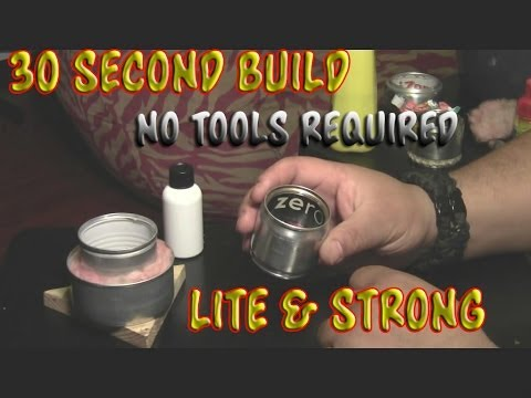 Make An Alcohol Stove in 30 Seconds No Tools Required (plus more stoves)