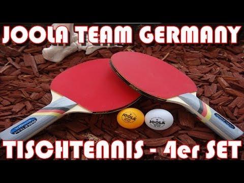 """""""JOOLA TISCHTENNIS 4er SET TEAM GERMANY"""" -Vorstellung des 17,99 Euro Sets"""