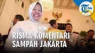 Walikota Surabaya Tri Rismaharini Komentari Sampah Jakarta