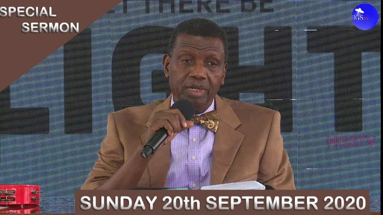 RCCG Sunday Service 20th September 2020 by Pastor E. A. Adeboye - Livestream