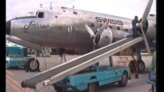 preview picture of video 'Swissair DC-4 Flight'