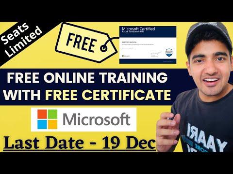 Microsoft Free Training With Certificate | Microsoft AI Class