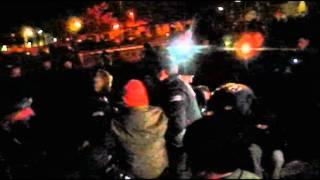 preview picture of video '2011-11-25 Castor-Südblockade: Sitzblockade im Bahnhof Haßloch und Castor-Durchfahrt'