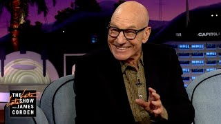 What Is Sir Patrick Stewart's Mantra Before 'Action'?