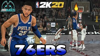 NBA 2K20 Play Now EP 5 | This 76ers Team Are Dangerous To Deal With | Ben Simmons At PG=Cheese