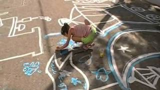 preview picture of video 'Arte Terapia esperanza-Paint over the Asfalt-07.wmv'