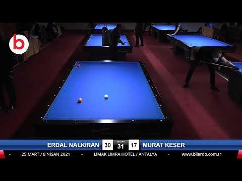 ERDAL NALKIRAN & MURAT KESER Bilardo Maçı - 2021 1.ETAP ERKEKLER-5.TUR