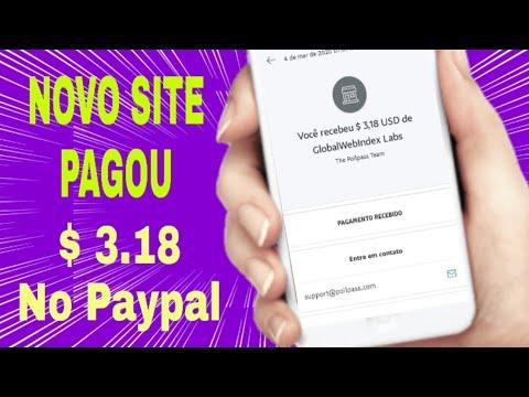 Pagou $ 3,18 no Paypal - Novo Site para Ganhar Dinheiro no Paypal Respondendo Pesquisas (Money no pa
