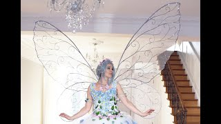 How To Make Some Giant Fairy Wings With LEDs