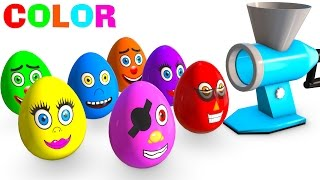 Learn Colors for Kids and Cars w Superhero Surprise Eggs Learning Video - Color for Children