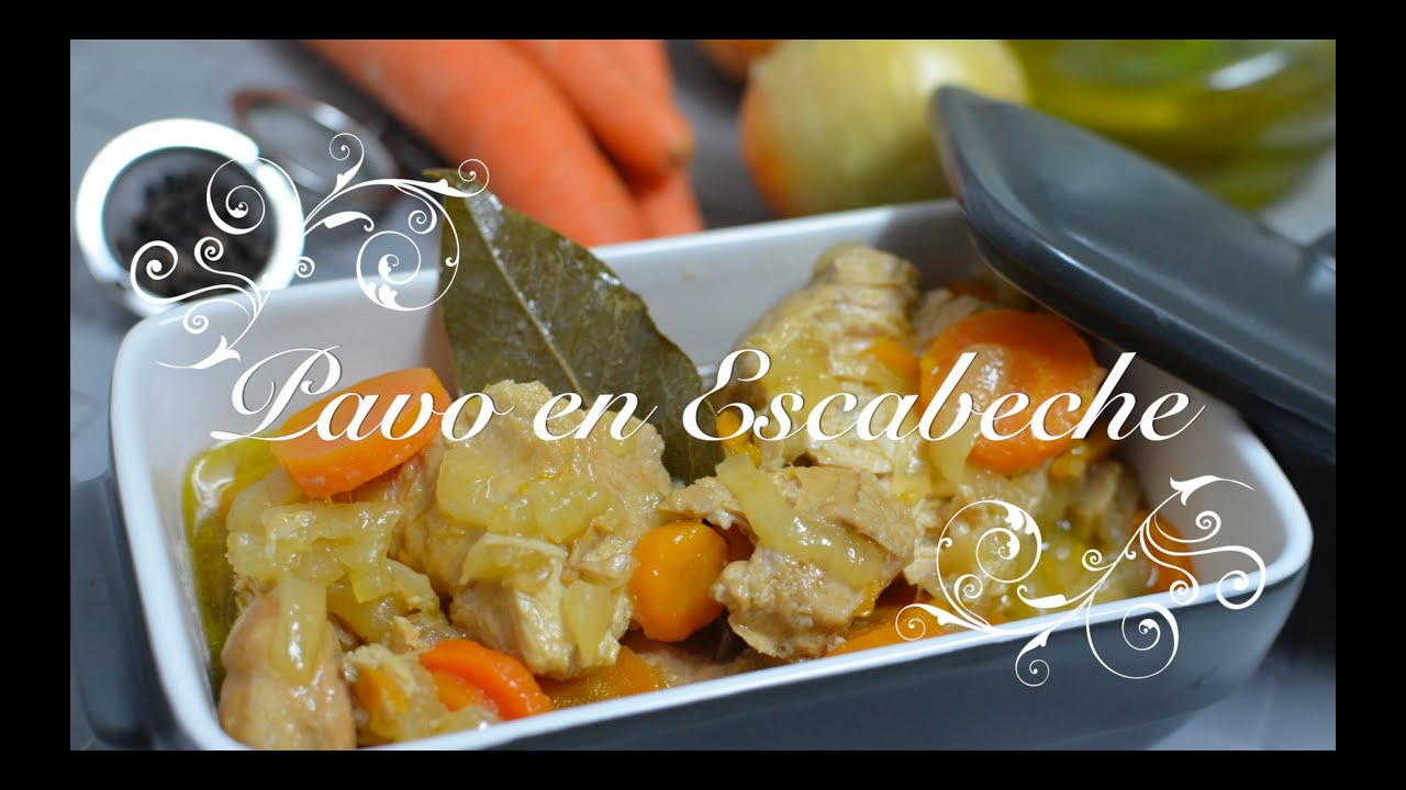 Pavo en Escabeche | Escabeche de Pavo | Pavo Escabechado | Recetas de Cocina por Chef de mi Casa.com
