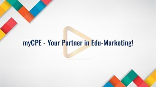myCPE - Your partner in Edu-Marketing
