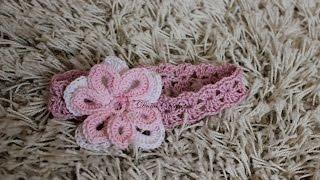 How To Crochet Summer Baby Headband