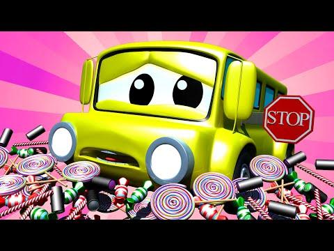 Tom der Abschleppwagen -  Klein Lily dem Bus ist ihr Schild gebrochen - Cartoons für Kinder 🚓 🚒