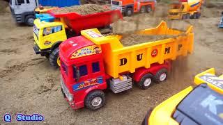 Огромный Грузовик С Экскаваторным Краном Мусоровозы В Песке | Детские Игрушки Для Детей