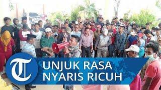 Unjuk Rasa Ratusan Warga di Kantor DPRD Jeneponto Nyaris Ricuh