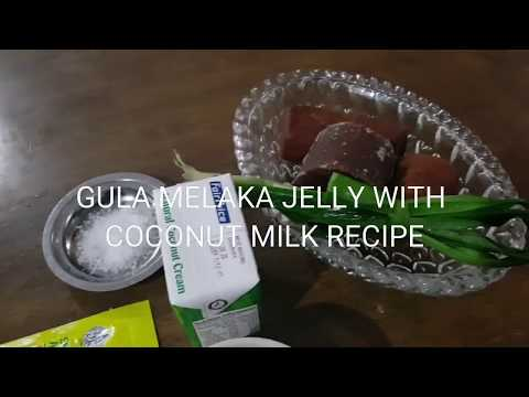 GULA MELAKA JELLY WITH COCONUT MILK RECIPE