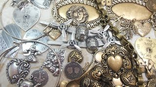 Charm Necklace Project, Easy Peasy Design, Charm Enhancer, with B'sue