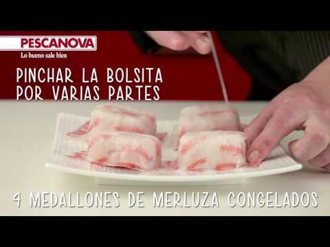 Cómo se hace la receta de Merluza con crema de trigueros y parmesano
