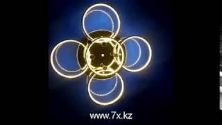 Потолочная led-люстра серебряного цвета (100Вт / 3 режима) от компании Люстры, бра, настольные, торшеры, лампочки оптом и в розницу - видео