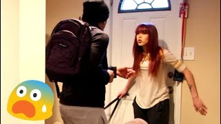 LEAVING WITH MY EX GF PRANK ON MY GIRLFRIEND! SHE TOOK OUT THE BELT!