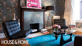 Dark Paint & Floral Wallpaper Elevate This Fashionista's Toronto Home