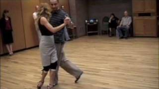 TANGO: WEAVE STEPS WITH LEAD'S FORWARD SACADA AND SYNCOPATION