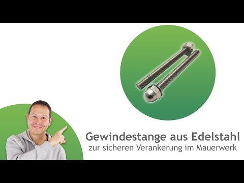 Gewindestange aus Edelstahl - zur sicheren Verankerung im Mauerwerk | Pina
