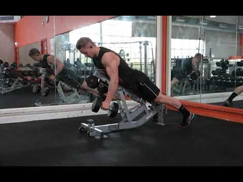 Chest Supported Dumbbell Row - Alternating with Iso Hold at the top