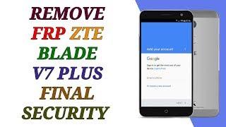 FRP ZTE BLADE V7 LITE BYPASS ACCOUNT GOOGLE LAST UPDATE - hmong video