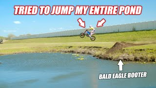 Ronnie Mac Visited My House and Attempted the World's Most Legendary Pond Gap... *BALD EAGLE BOOTER*