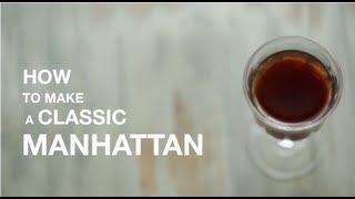 How to Make a Classic Manhattan Cocktail (recipe)