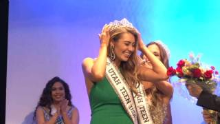 Rachel Bell Miss Utah Teen USA 2017 Crowning