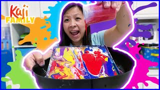 Mommy testing Crayola Paint and Pour Marble Art Playset!!