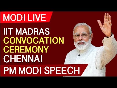 Modi Live   PM Narendra Modi Speech At IIT Madras Convocation Ceremony 2019 Chennai