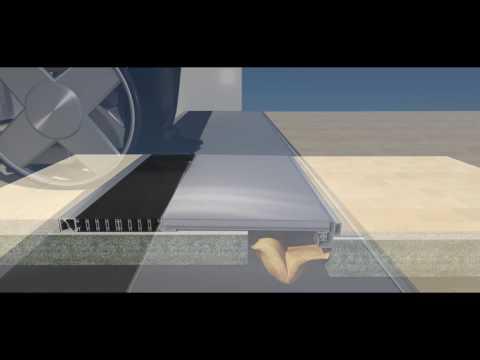 Giunto di Dilatazione a pavimento  per edifici con Isolamento Sismico - K3D Giunto Sismico - (HD)