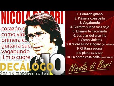 """Nicola di Bari - Sus 10 mayores éxitos (Colección """"Decálogo"""")"""