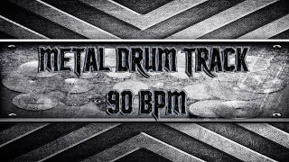 Disturbed Style Metal Drum Track 90 BPM (HQ,HD)
