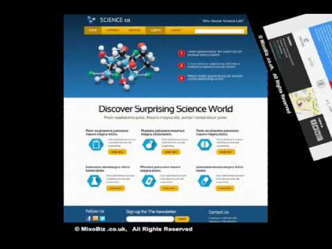 Science related web design samples ( MixoBiz )