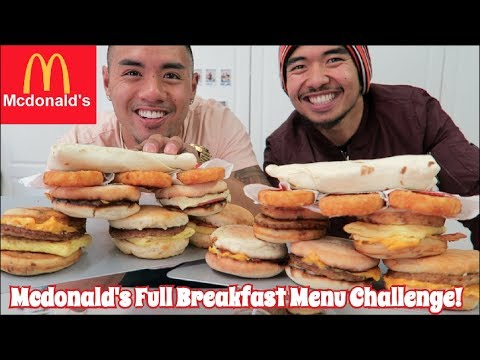 MCDONALD'S FULL BREAKFAST MENU CHALLENGE | EAT OFF