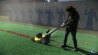 Lawnmower vs. Rocks | MythBusters