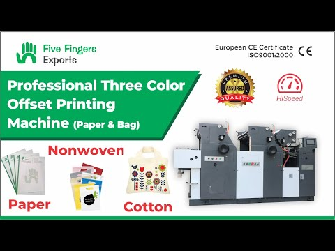 Three Color Offset Printing Machine