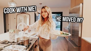 My boyfriend moved in with me so I'm cooking sea bass and doing wifey sh*t!